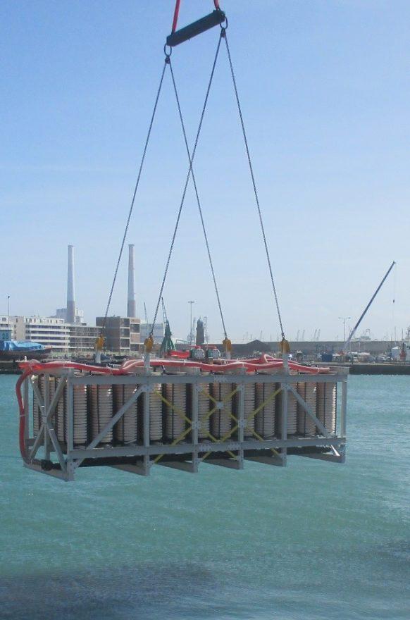 Installation du capteur dans le port du Havre3